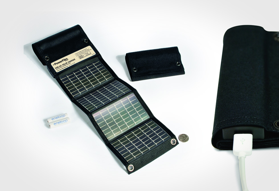 Power Film USB+AA Foldable Solar Charger