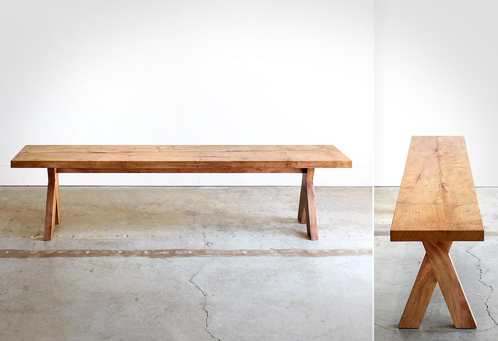 Modern Outdoor Wood Bench Picnic By Chadhaus