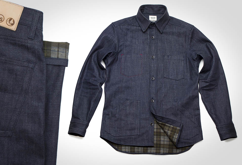 Taylor Stitch Flannel Lined Denim