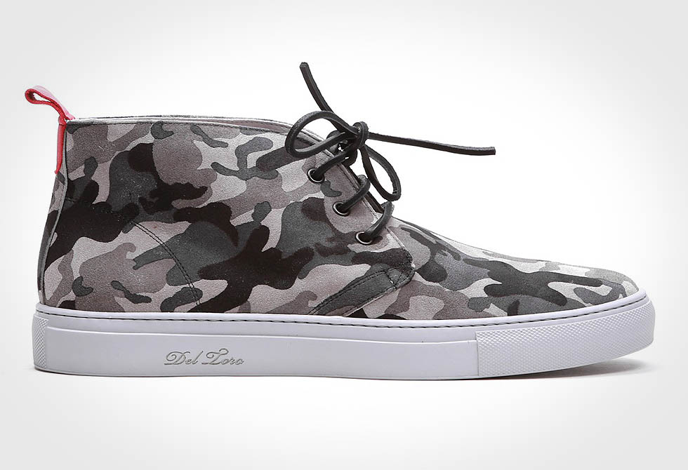 Del Toro Grey Camo Sneakers