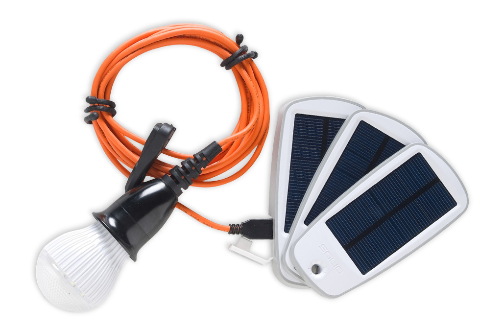 Solio Classic 2SolarCharger + Alva LED Light Kit