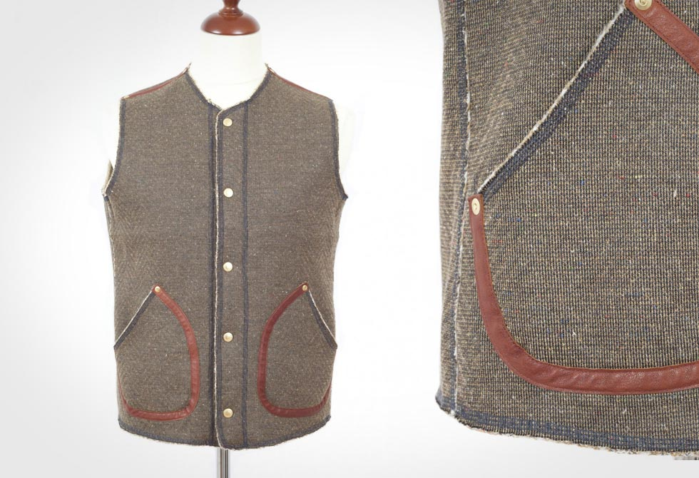 Kapital Herringbone Fleece Vest