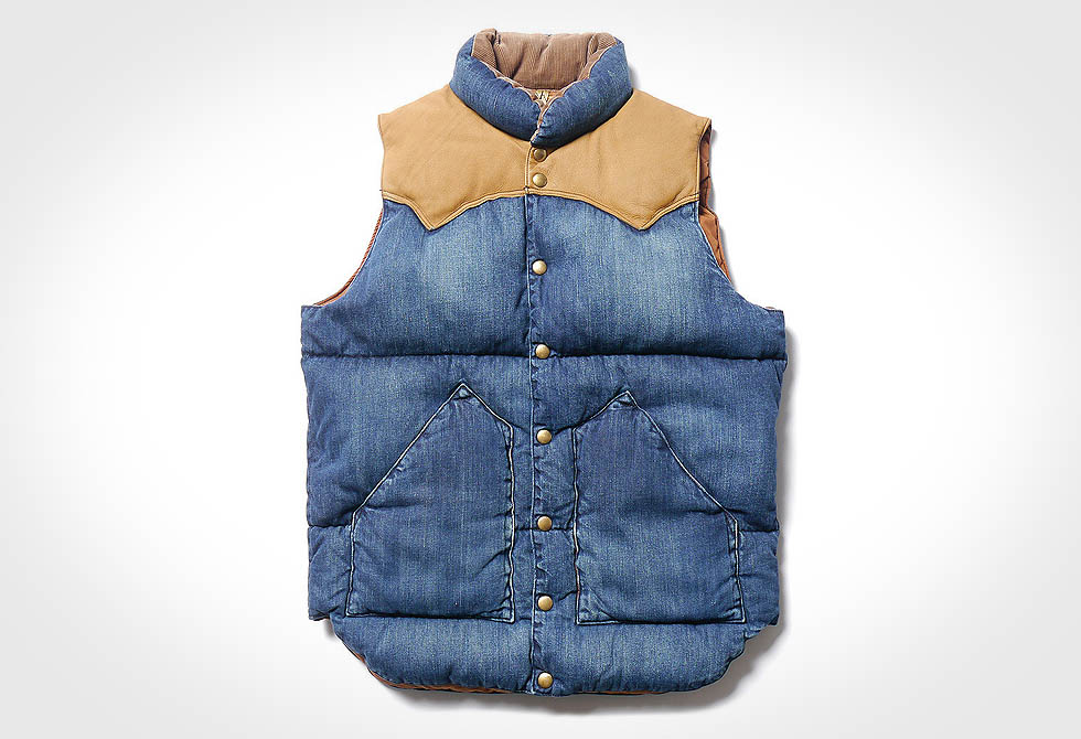 Rocky Mountain Featherbed Denim Down Vest - lumberjac.com