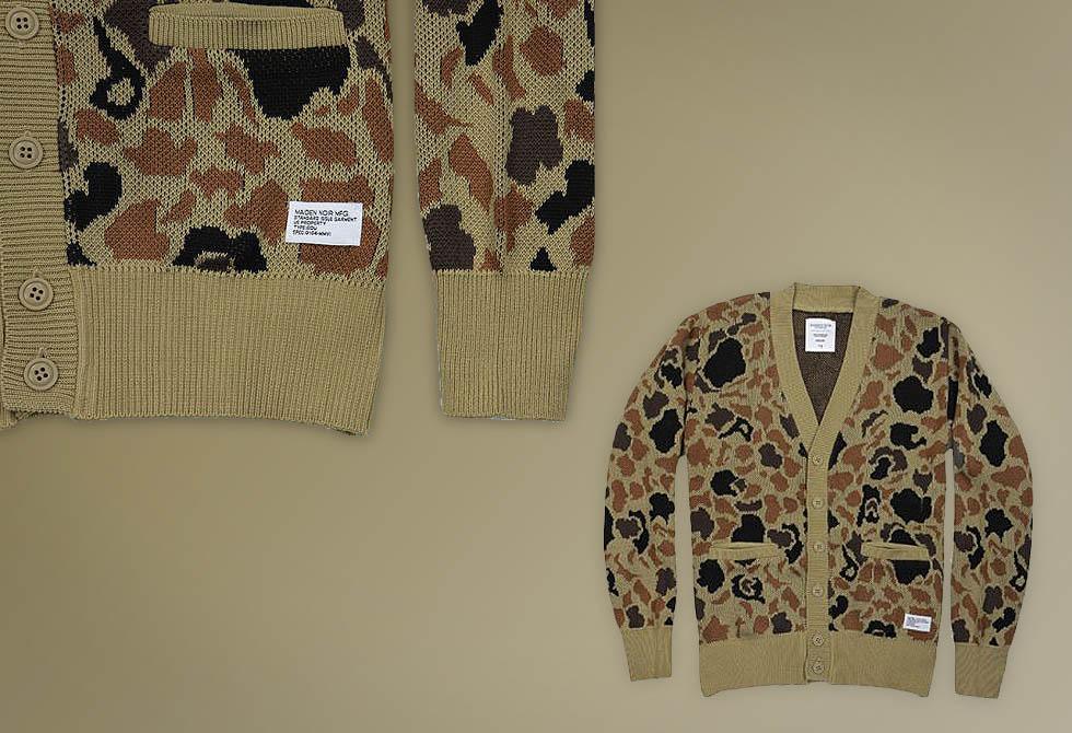 Jacquard Camo Knit Cardigan - LumberJac