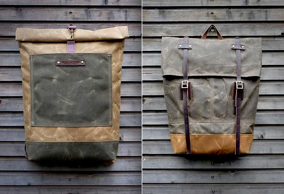 Waxed Canvas Rucksack - LumberJac