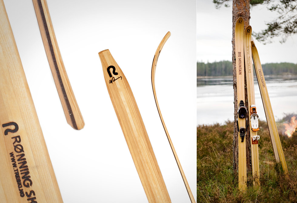 Quiet Wooden Cross Country Skis - LumberJac