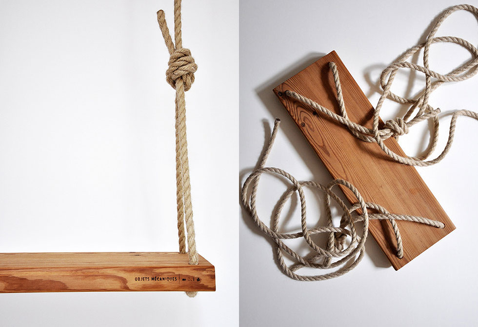 Outdoor Wood Swing by Mechanical Objects - LumberJac
