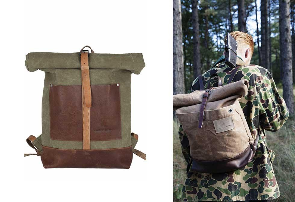 repurposed vintage bags by Atelier de l'Armée - LumberJac