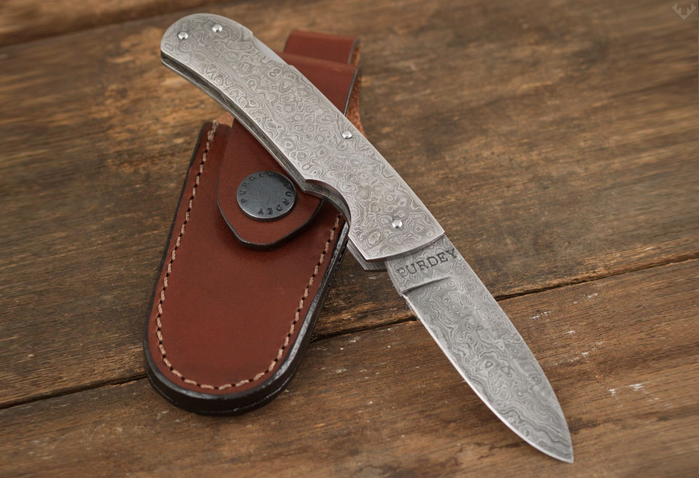 Purdey-Full-Damascus-Folding-Pocket-Knife-LumberJac