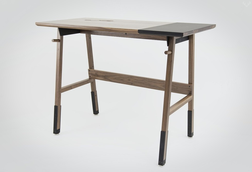 Artifox Standing Desk 01 Walnut LumberJac