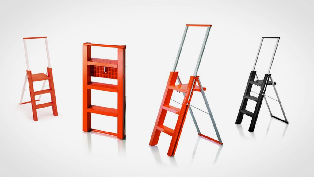 Magis Flo Folding Step Ladder LumberJac