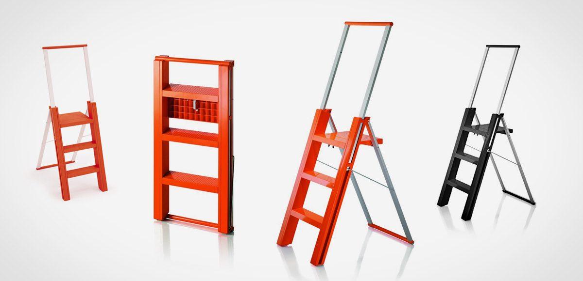 Magis Flo Folding Step Ladder LumberJac